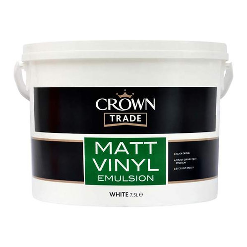 Crown Vinyl Matt White 7.5Ltr