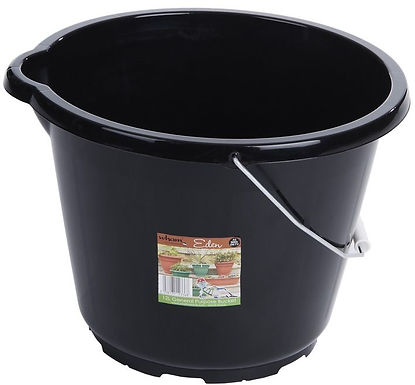 Eden 12L General Purpose Bucket Black