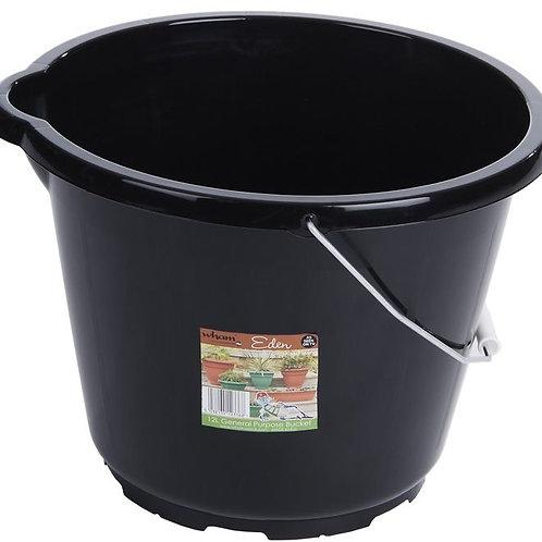 Eden 12L General Purpose Bucket Black