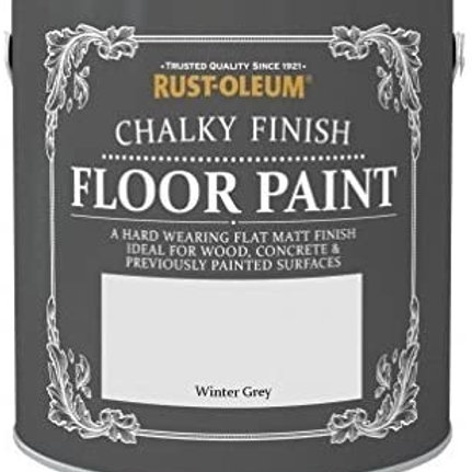 Chalky Floor Paint Winter Grey
