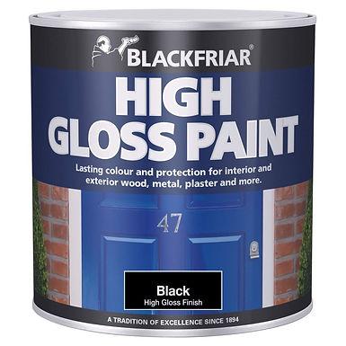 Blackfriar Gloss Paint Black 500ml