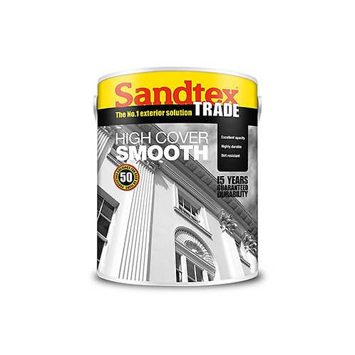Sandtex High Cover Smooth Black 5 Ltr