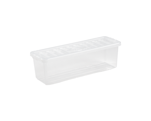 Crystal (CD) Shallow Shelf Box & Lid Clear