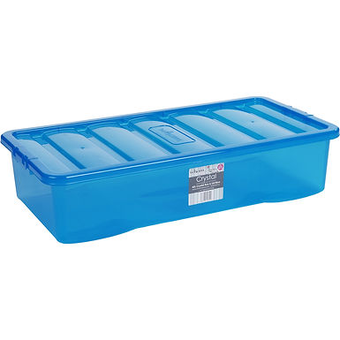 Crystal U/bed Box & Lid Tint Blue