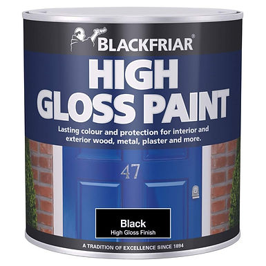 Blackfriar Gloss Paint Black 250ml