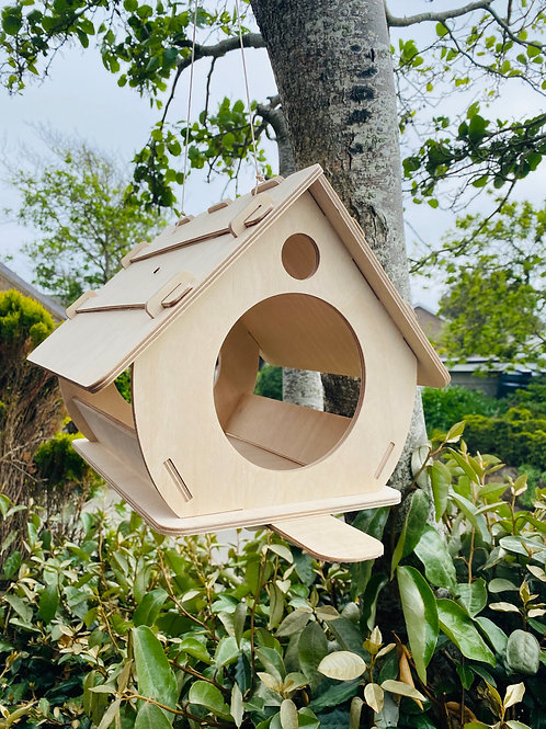 Modern Sustainable Birch ply bird house