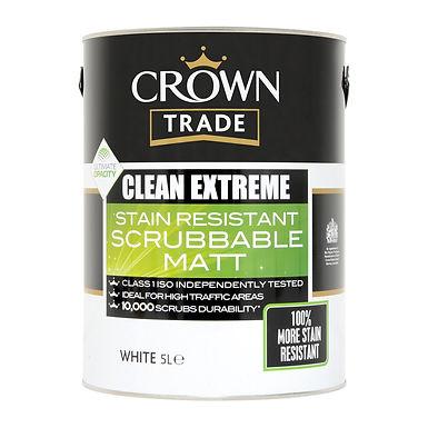 Crown Cln Extreme Scr Matt White 5 Ltr