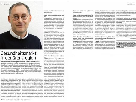 IHK-Ostbrandenburg: Deutsch-Polnischer Tag des Gesundheitswesen, der DPGSV moderiert
