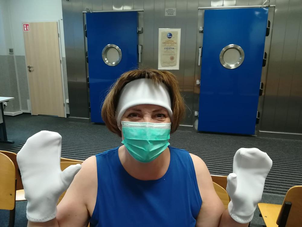 Bei der Kältetherapie müssen die Stirn, Hände, Nase und die Waden geschützt werden
