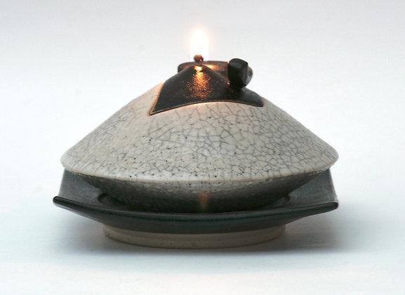 Lampe à huile avec sous tasse