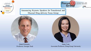 Invited speaker in the Transdermal and Mucosal Drug Delivery Focus Group