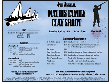 4th Annual Mathis Family Clay Shoot
