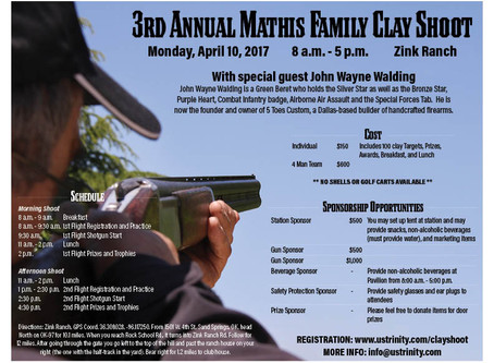 3rd Annual Mathis Family Clay Shoot