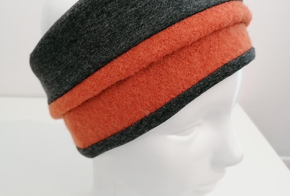 Stirnband  Orange/Dunkelgrau