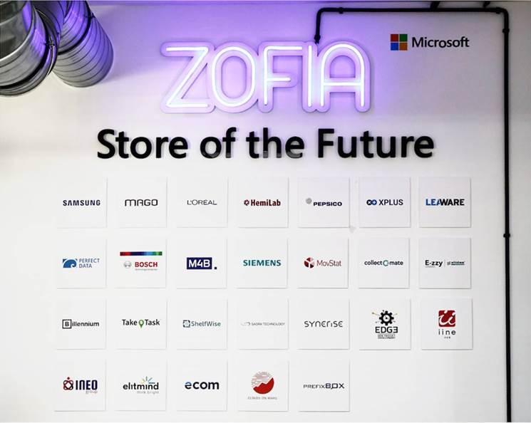 Logo wszystkich partnerów tworzących rozwiązanie Zofia 2.0 Sklep Przyszłości