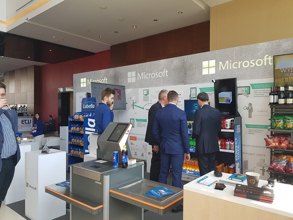 Stanowisko Microsoftu na Targach Retail Summit 2019