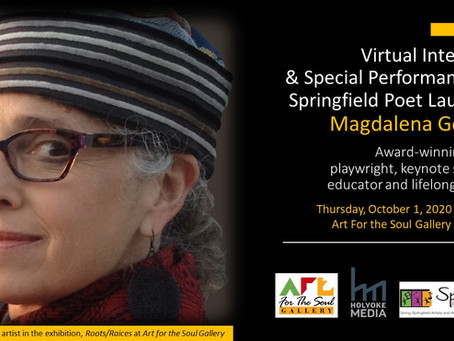 Virtual Interview & Special Performance by Springfield Poet Laureate Magdalena Gómez