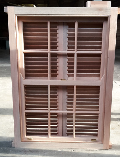 Sliding Sash Window With Shutters