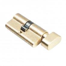 QS 1108PB 66mm Satin Brass Double Knob Cylinder