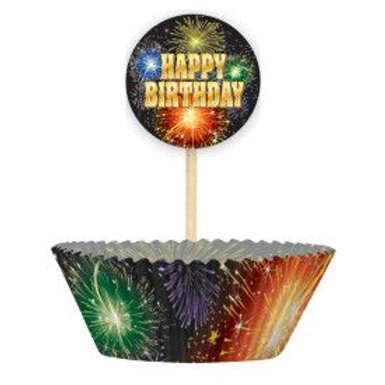 Bake Cup Kit Happy Birthday Fire 24C