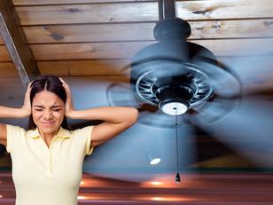 תיקון מאוורר תקרה שעושה רעש