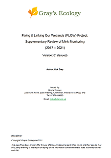 FLOW Project Mink Monitoring Review