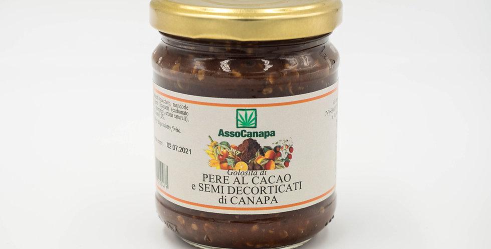 Confettura Pere, Cacao e Semi di Canapa