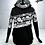 Thumbnail: Hoodies Femme petit pois et floral noir