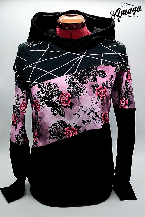 Hoodies femme geo rose