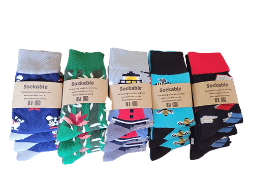Odd Sock Fundraising Pack - Extra Small Kids 9-12, 5-8yrs