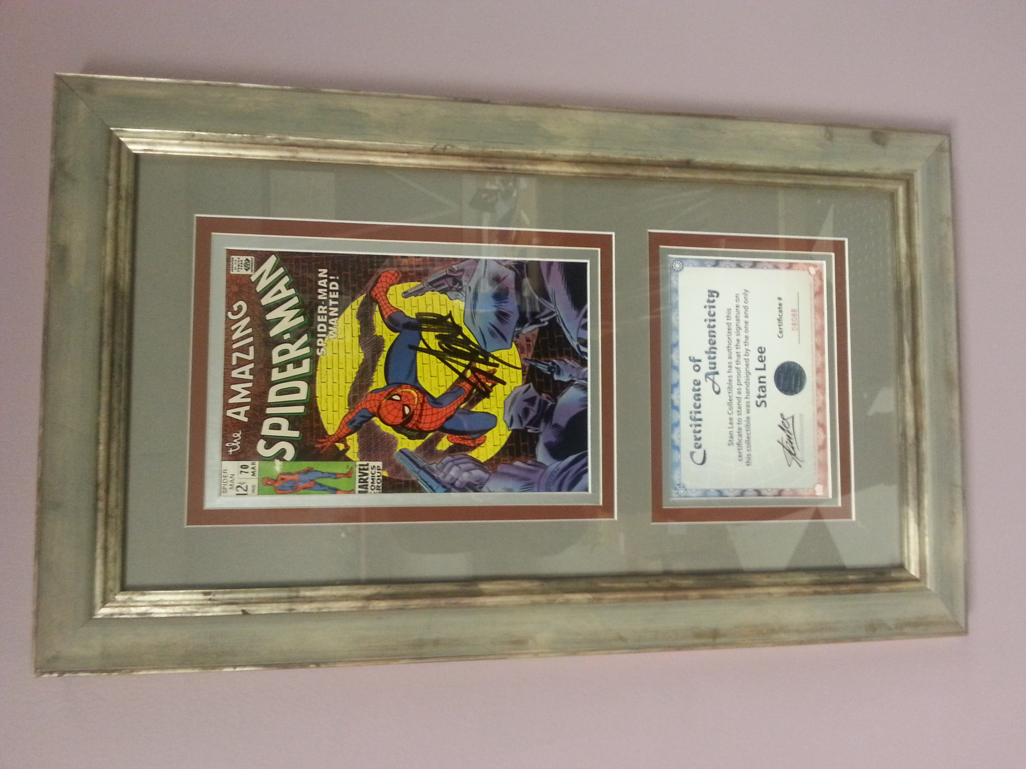 Comic Book & Certificate