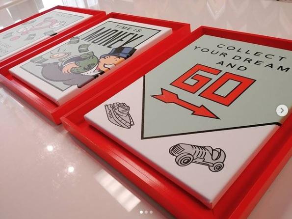 Custom Painted Float Frames