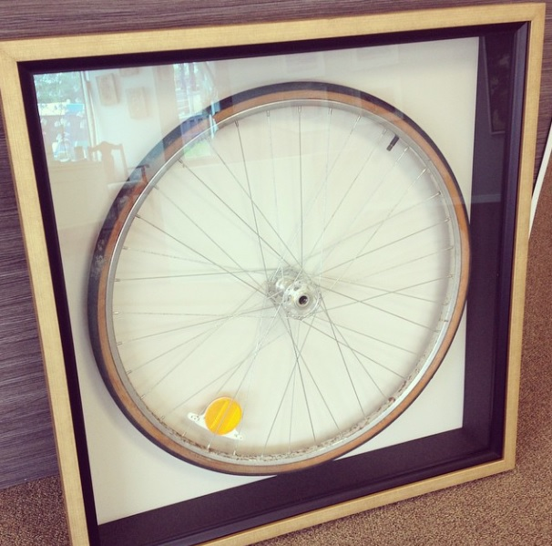 Bicycle Tire Shadowbox