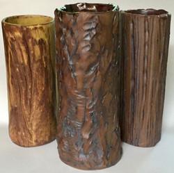 Tree Bark Vases