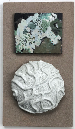 Cool coral with accent painting