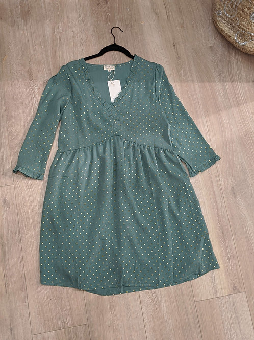 robe vert sauge/ doré SEASON