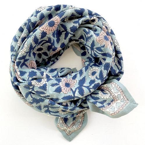 foulard manika  cœur bleu glacier APACHES