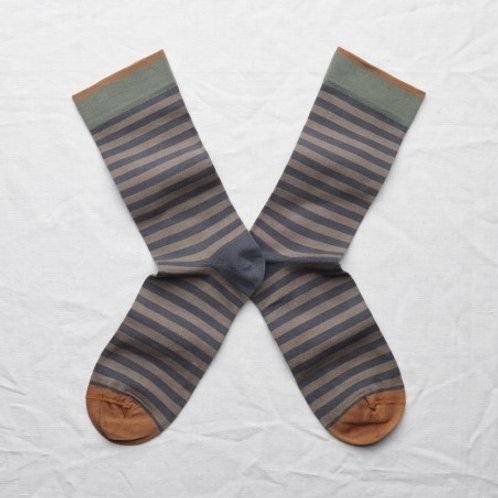 chaussettes rayures acier BONNE MAISON