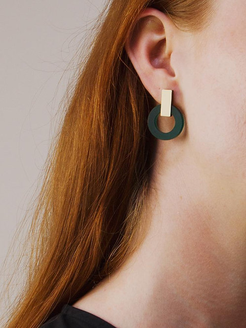 boucles d'oreille orbit green WOLF & MOON