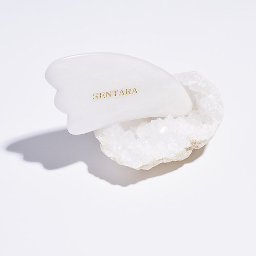 gua Sha corne jade blanc SENTARA HOLISTIC