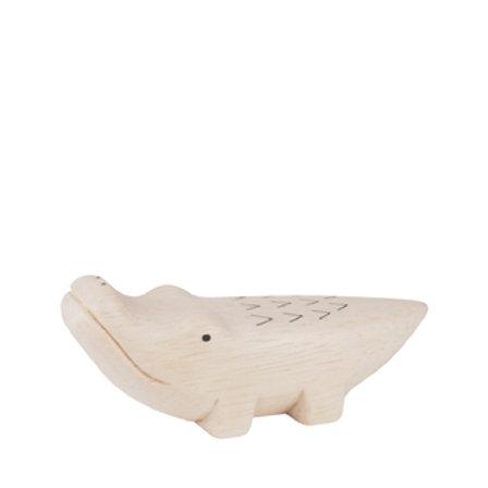 figurine bois crocodile TLAB