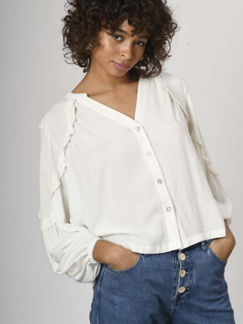 blouse violette blanche ORFEO