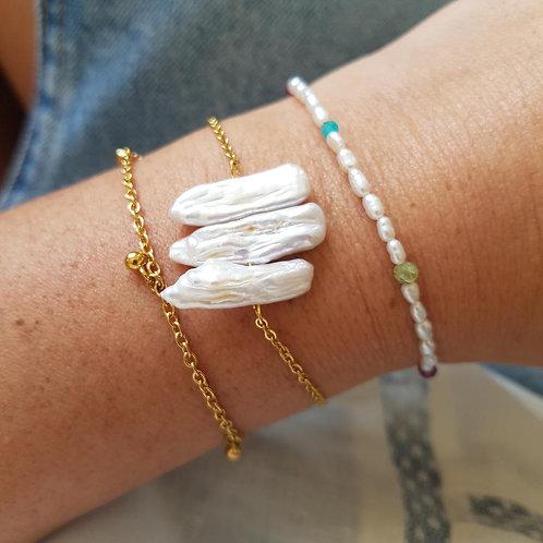 bracelet shira blanc GINANDGER