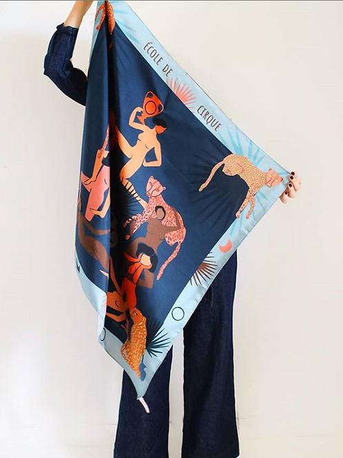 foulard école de cirque SOIE MEME