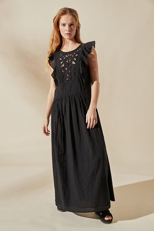 robe damascus noire LOUIZON
