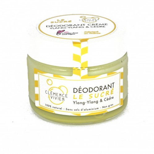 déodorant CLEMENCE & VIVIEN ylang + cèdre + sauge