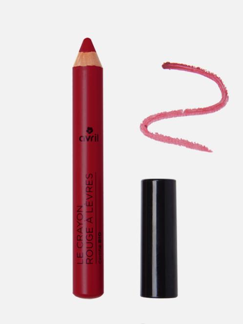 crayon rouge à lèvres bio châtaigne AVRIL