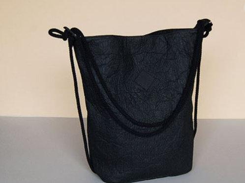 sac convertible pinatex noir HERDENTIER