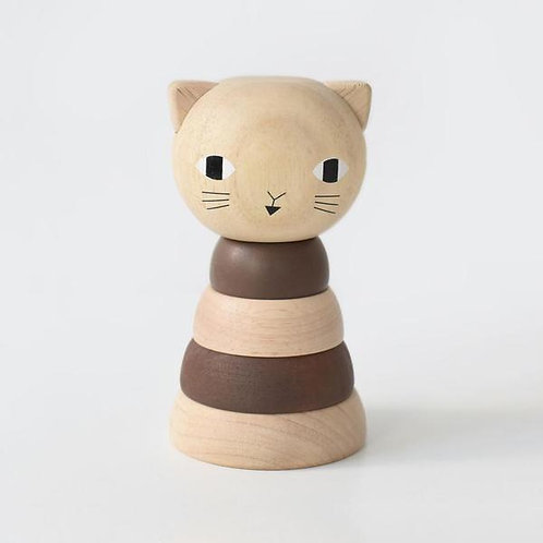 jouet en bois à empiler cat WEE GALLERY