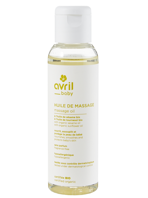 huile de massage bio AVRIL